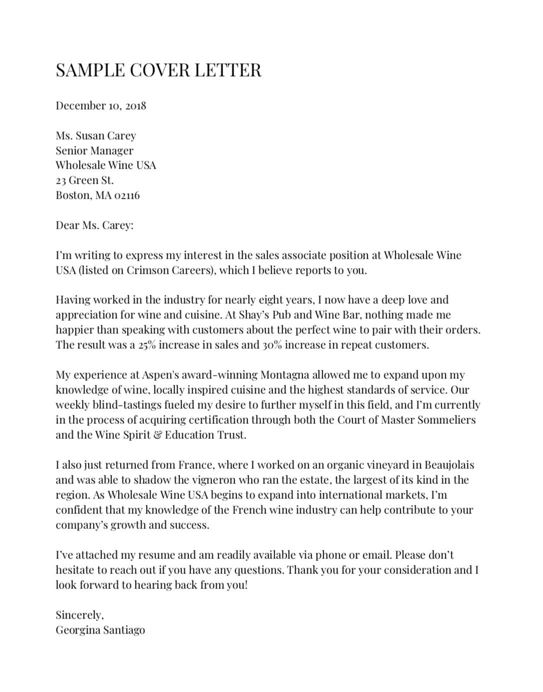Sample Cover Letter Harvard Law School